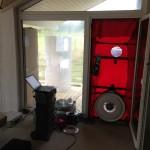 Blower Door Aufbau