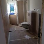 Gästebad mit WC und Duschkabine-Waschbecken muss neu geliefert werden